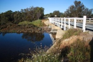 Bridge over Mortlock River in Goomalling, Western Australia