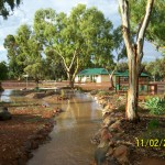 Goomalling Caravan Park after summer rain