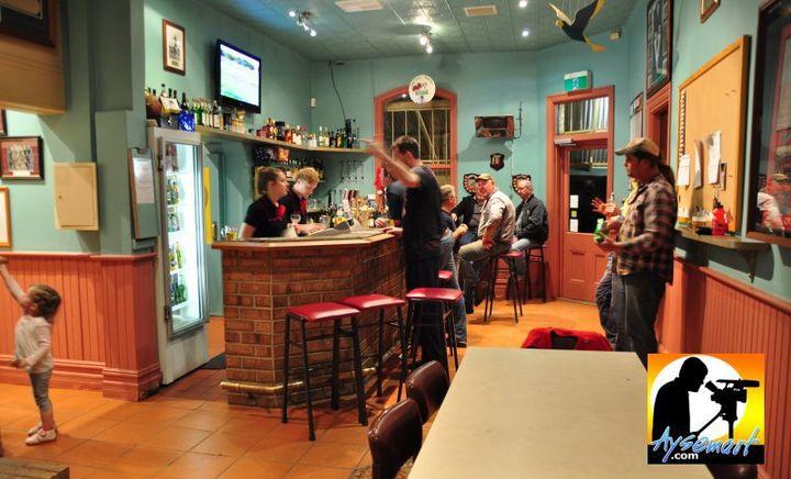Jennacubbine Tavern bar, Goomalling
