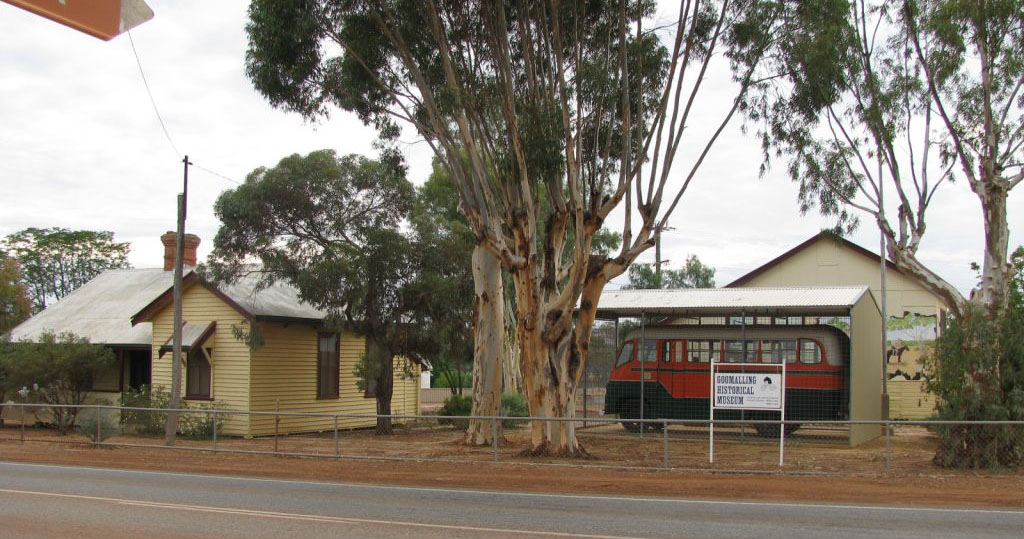 The Goomalling Museum Precinct includes the Historical Society building, the old school house museum, the bus, plus a display of old and rare machinery