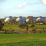 Goomalling grain storage domes, Western Australia