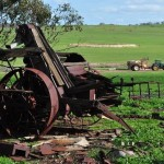 Old machine in paddock, Goomalling, Western Australia