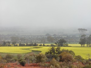 The view from Gabby Quoi Quoi lookout, Goomalling, Western Australia