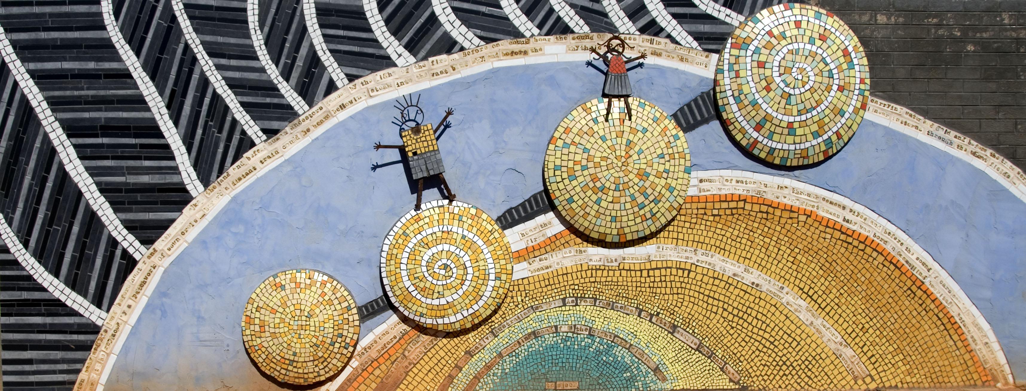 Mosaic at Goomalling Primary School, Western Australia