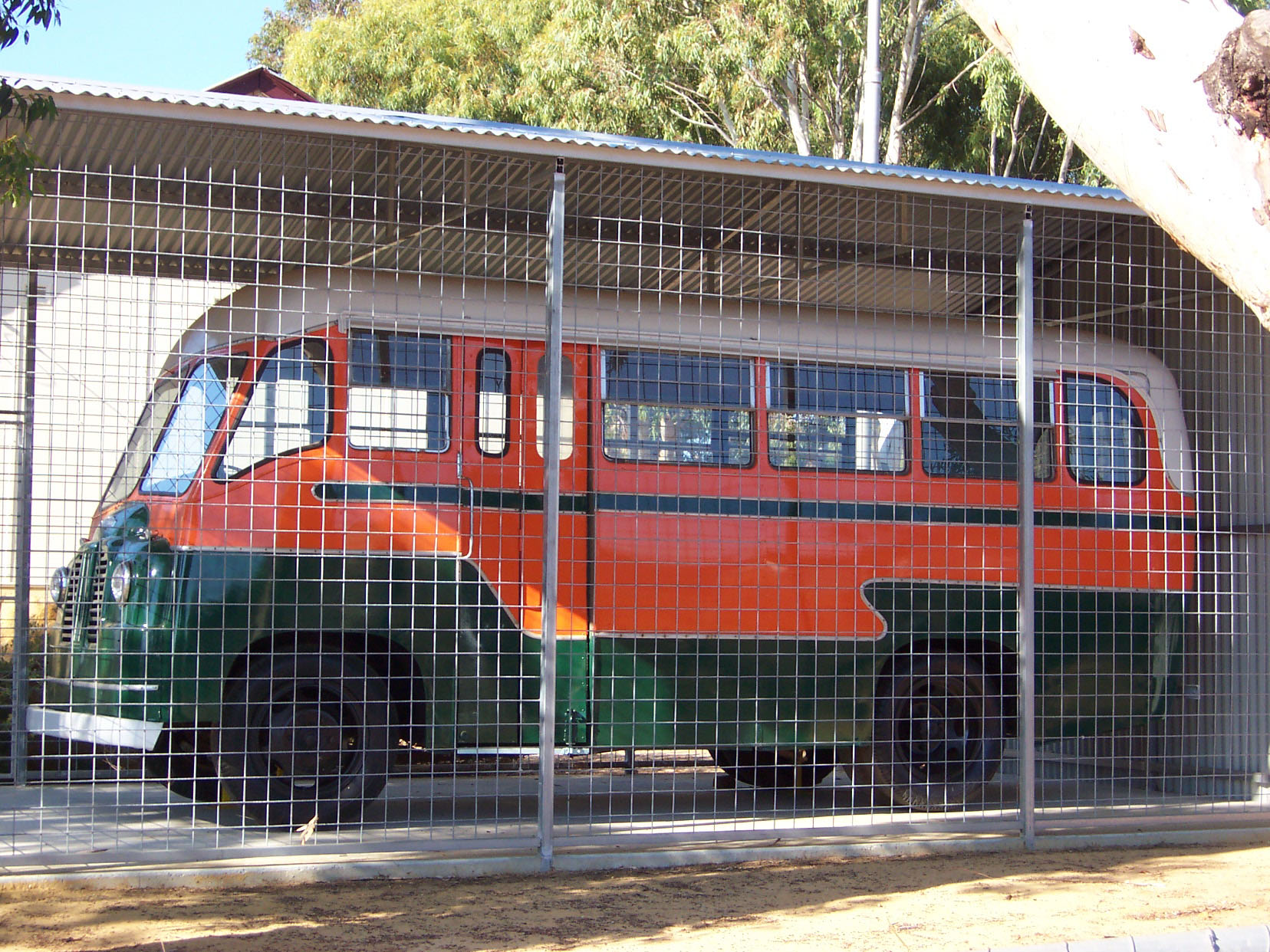 Old school bus at the Goomalling Museum, Western Australia