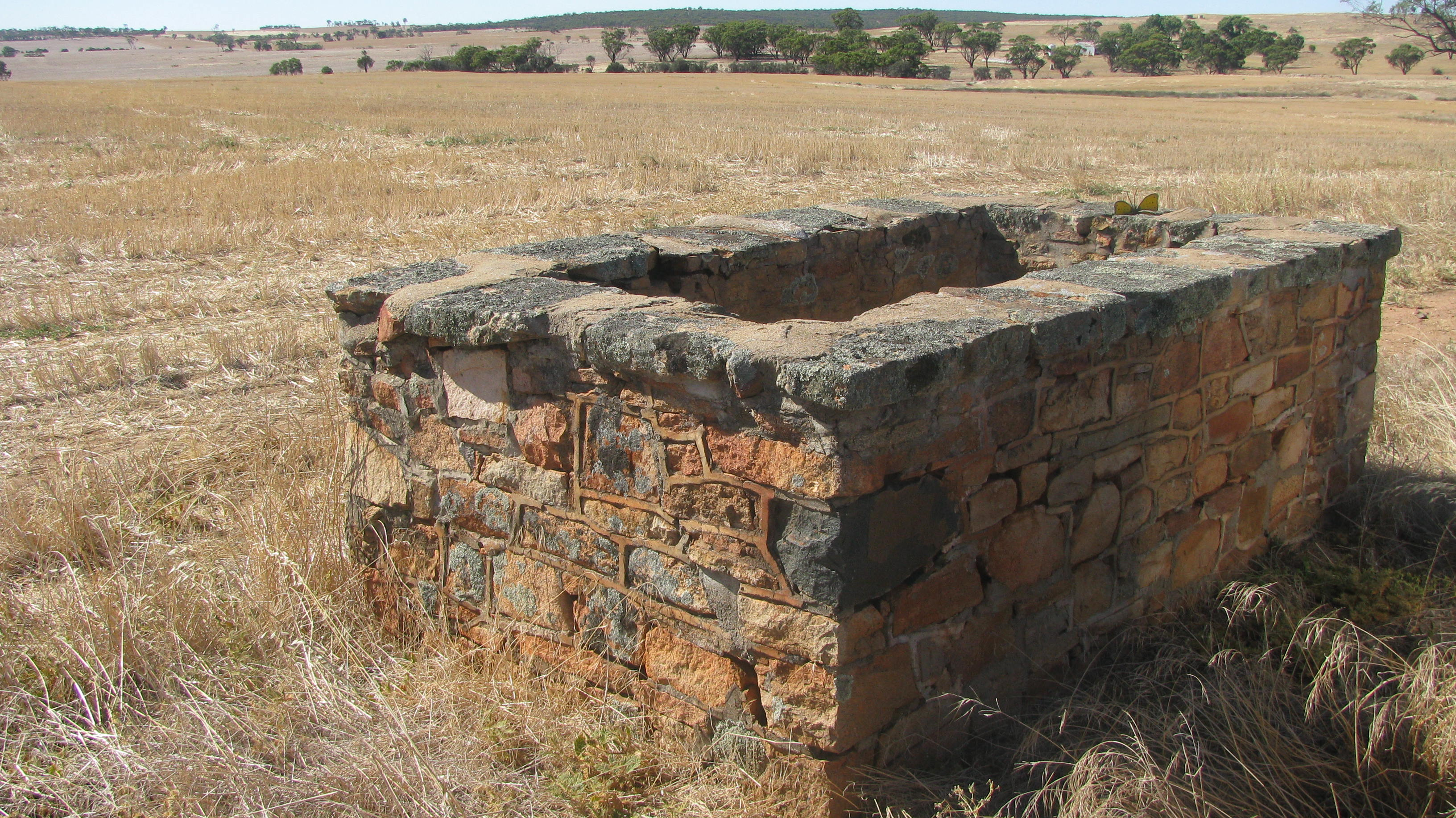 The Shepherd's Grave with bare paddock in the background, Goomalling WA