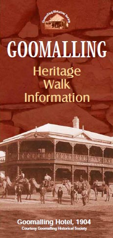 Goomalling Heritage Walk brochure front cover