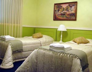 Green Twin Room